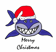 Shark Merry Christmas